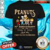 The Peanuts 70th Anniversary 1950 2020 Thank You For The Memories Signature Shirt - Design By Togethertee.com