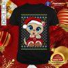 Santa Kitten Ugly Christmas Gift Xmas Cat Pajama T-Shirt - Design By Togethertee.com