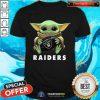 Baby Yoda Hug Oakland Raiders Shirt - Design By Togethertee.com