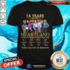 14 Years Heartland Thank You For The Memories Signatures Shirt - Design By Togethertee.com
