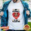 Retro Dog Heart Valentines Day Shirt - Design By Togethertee.com