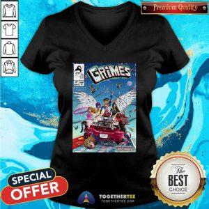 Liam Alexander Grimes Comic Cover Series V-neck - Design By Togethertees.com