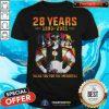 Hot 28 Years 1993 2021 Of The Mighty Morphin Power Rangers Shirt