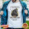 Never Underestimate A Woman Who Loves Cats And Was Born In May Butterflies Shirt - Design By Togethertees.com