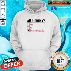 Am I Drunk Yes No Bitch I Might Be Hoodie - Design By Togethertees.com