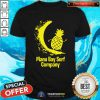 Manu Bay Surf Company New Zealand Gold Surfing Pineapple Shirt - Design By Togethertees.com
