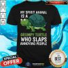 Awesome My Spirit Animal Is Grumpy Turtle Cartoon Shirt