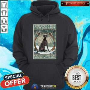 Official Great Dane Once Upon A Time Boy Vertical Poster Hoodie