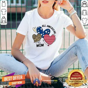 Awesome Heart All American Mom V-neck