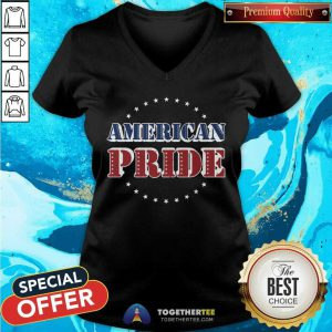 Cool American Pride Memorial And Independence Day V-neck
