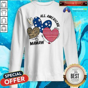 Original Heart All American Mamaw Sweatshirt