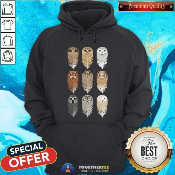 Owl In Feathers Hoodie