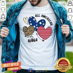 Pretty Heart All American Nana Shirt