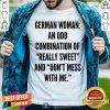 German Woman An Odd Combination Shirt