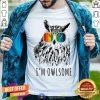 I Am Owlsome Owl With Color Glass Shirt