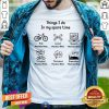 In My Spare Time I Ride Mountain Bikes Look At Mountain Bikes Shirt
