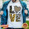 Medical Stethoscope Love Sunflower Leopard Shirt